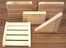 verschiedene Wandaufbauten und Holzsorte